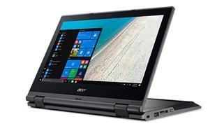 Toto je obrázek přepínače Acer TravelMate Spin B1 zobrazený zde