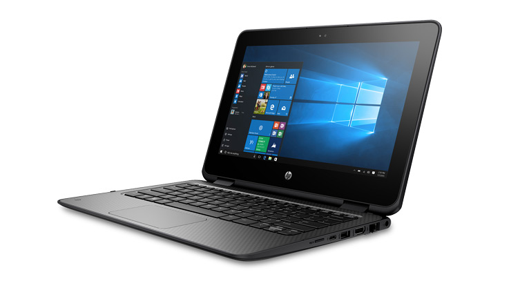 Image of a HP ProBook x360 11 EE laptop.