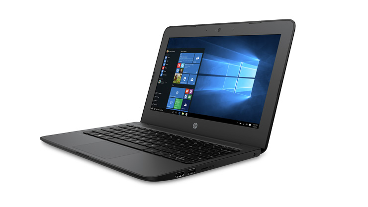 Image of a HP Stream 11 Pro G4 EE laptop.