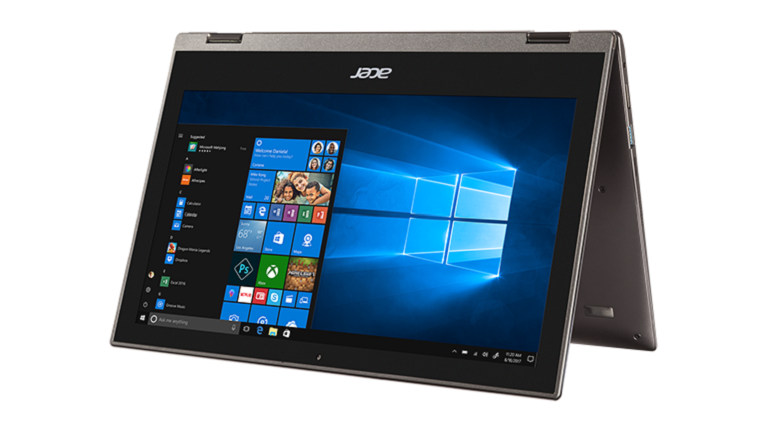 A photograph of the Acer Spin 7 convertible device.