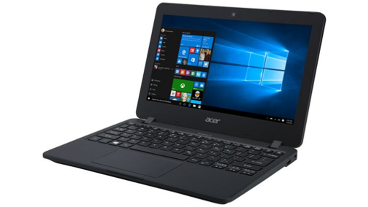 Image of an Acer Travelmate B117 laptop.