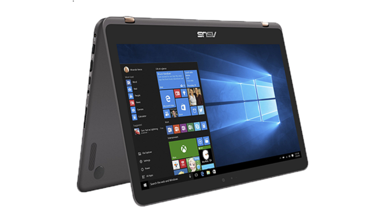 A photograph of the Asus Zenbook UX360UAK device.