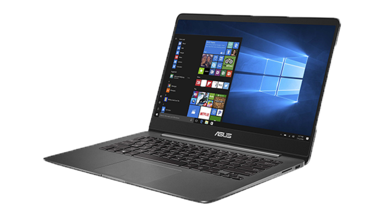 A photograph of the Asus Zenbook UX430UA device.