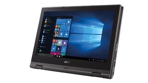 Acer TravelMate Spin B1/ B118 • 11.6-inch HD näyttö • 2-in-1 mukautuva kannettava ja tabletti