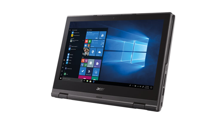 Acer TravelMate Spin B1/ B118 •11.6-inch HD taille de l'écran •Intel® Celeron® N3450 processor avec Quad Core