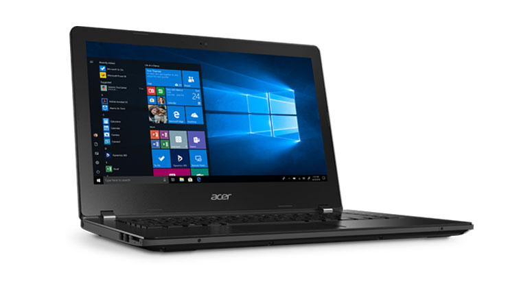 Acer TravelMate B1/B114 •	14-inch HD scherm •	Intel® AMD® A4-9120c processor met Dual Core