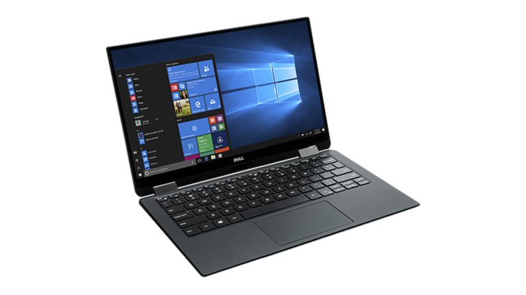 A photograph of the Dell XPS 12 2-in-1 device.