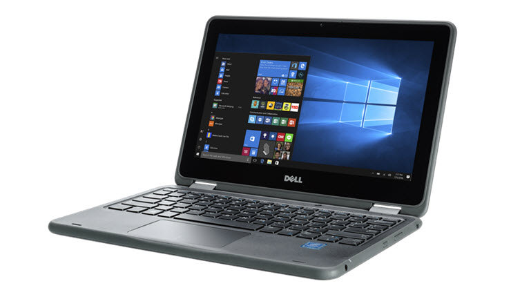 Image of a Dell Latitude 3189 laptop displayed open