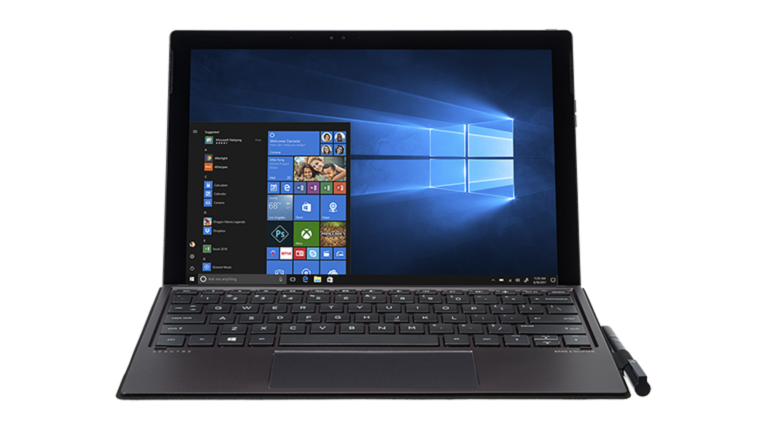 A photograph of the HP Spectre X2 device.