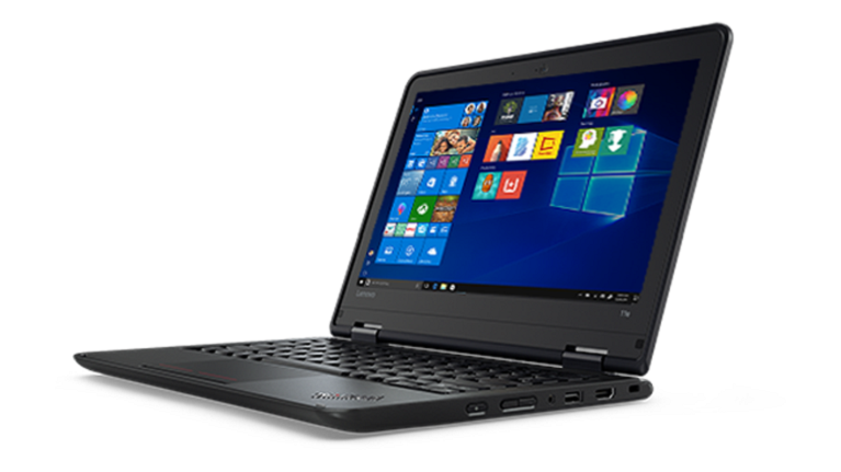 A photograph of the Lenovo notebook device.