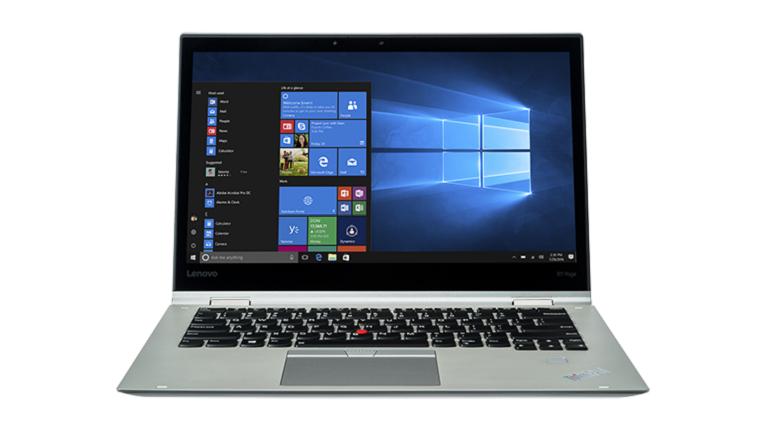 A photograph of the Lenovo ThinkPad Yoga X1 device.
