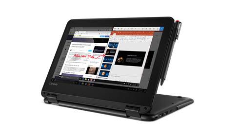 En bild av en Lenovo 300e Windows bärbar enhet