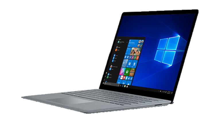 A photograph of the Microsoft Surface Laptop.