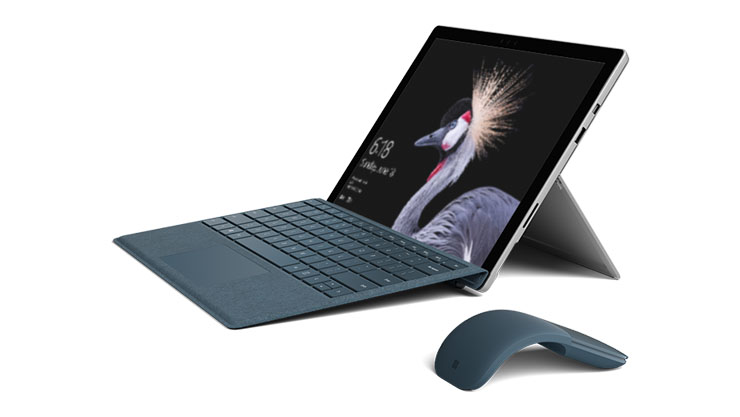 This is an image of the Microsoft Surface Pro shown here