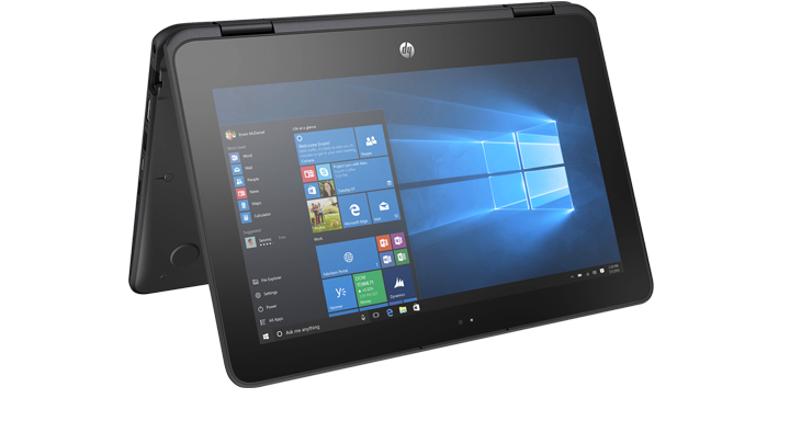 image of a HP ProBook x360 11 G1 Education Edition:  Notebook. Tablet. Stand. Tent.