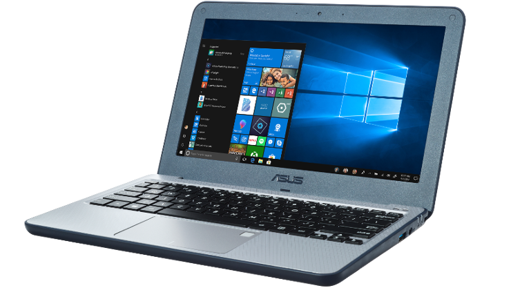 Image of an Asus Vivobook E201 laptop displayed open.
