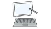 本体とキーボードがマグネット等で脱着できるタイプ 本体とキーボードがマグネット等で脱着できるタイプ<br />