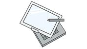 ディスプレイが回転、もしくはスライドできるタイプ ディスプレイが回転、もしくはスライドできるタイプ<br />